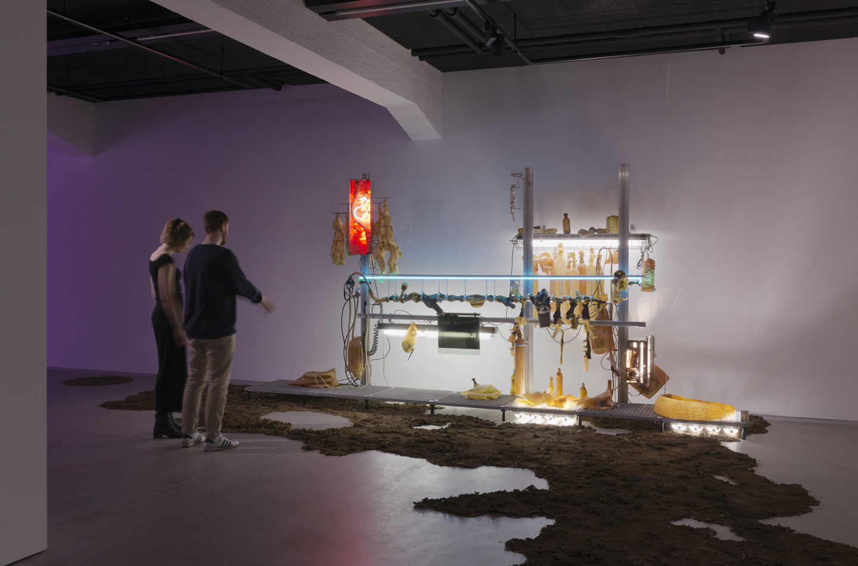 "Installation View Chloé Delarue ""TAFAA – HIVE, 2018"" at HEK Basel / Photo: Franz Wamhof / Courtesy: the artists"