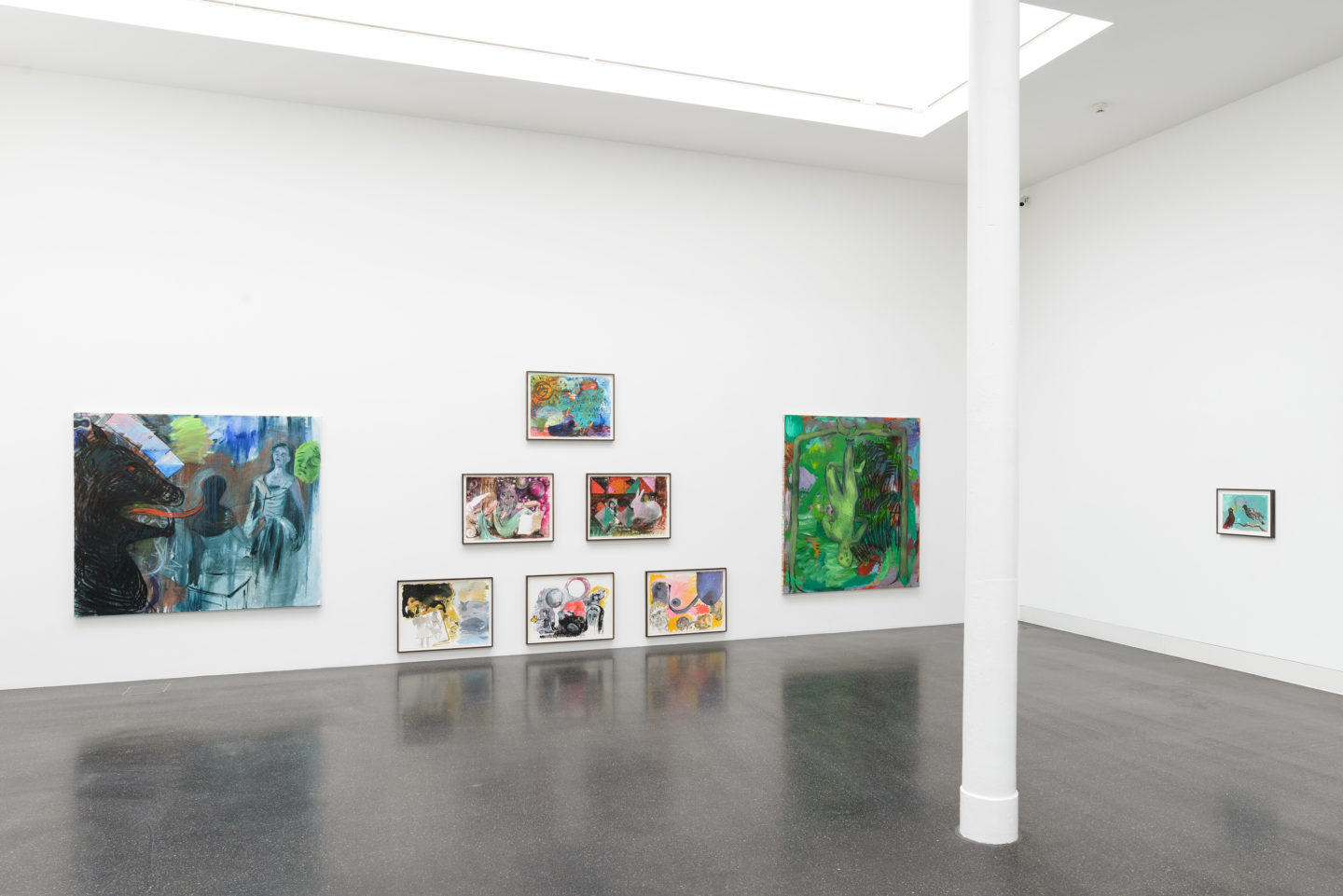 "Installation View Lucy Stein ""Knockers"" at Galerie Gregor Staiger, Zurich / Courtesy: the artist and Galerie Gregor Staiger, Zurich"