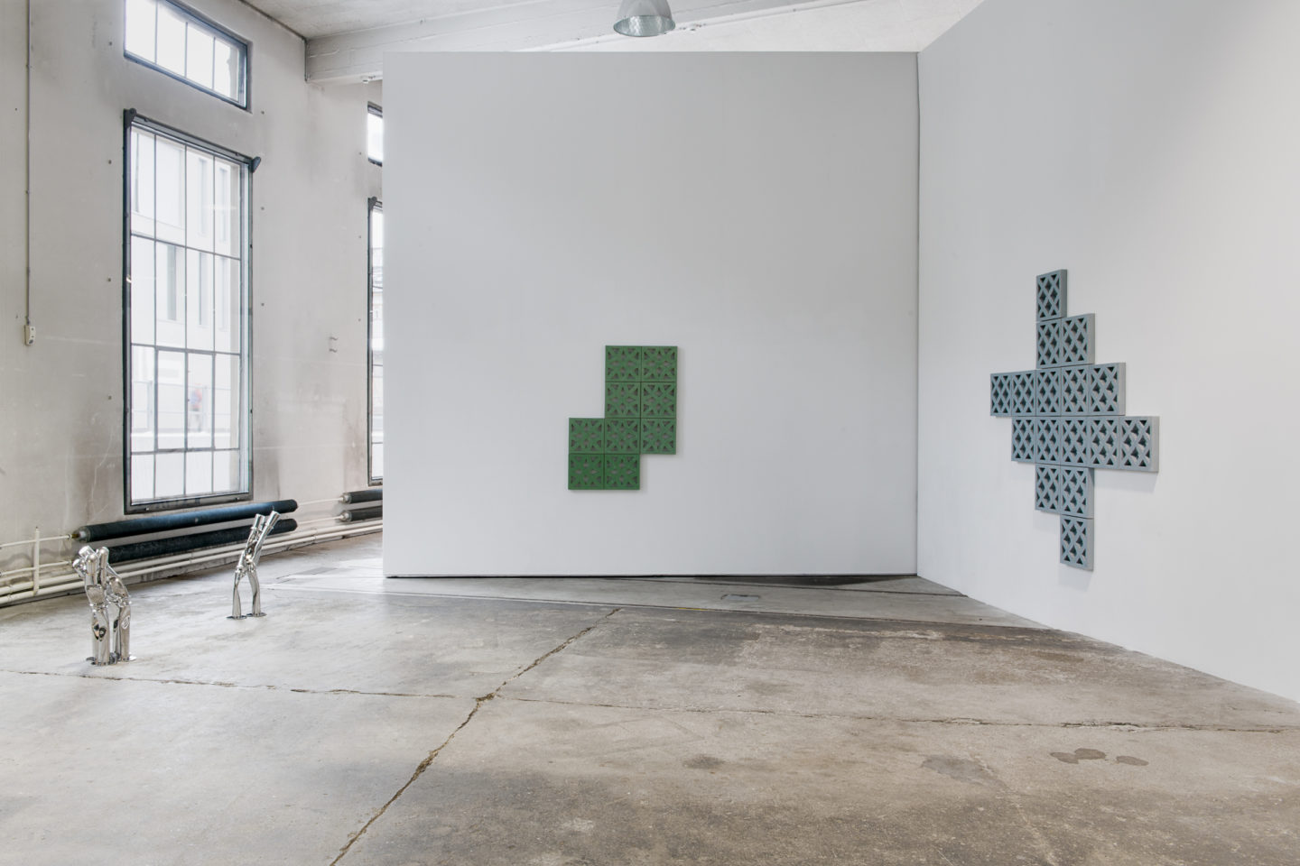 "Exhibition View Bettina Pousttchi ""Protection"" at Lokremise St.Gallen 2018 / Photo: Sebastian Stadler"