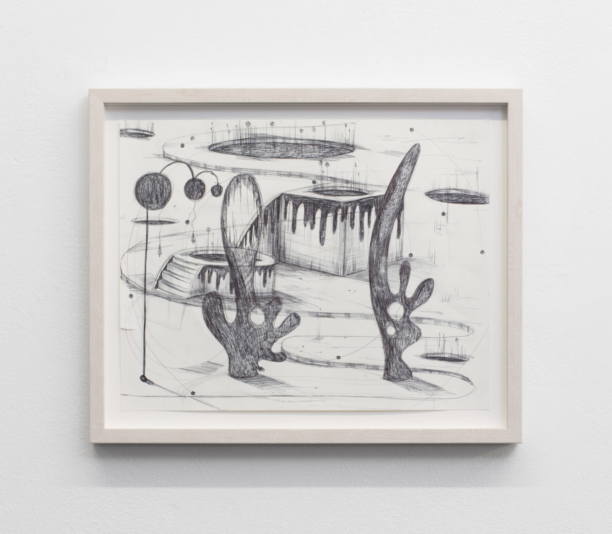 """Exhibition View Veit Laurent Kurz """"Drawing I (AOA Series), 2018"""" at Weiss Falk / Courtesy: Weiss Falk and the artist"""