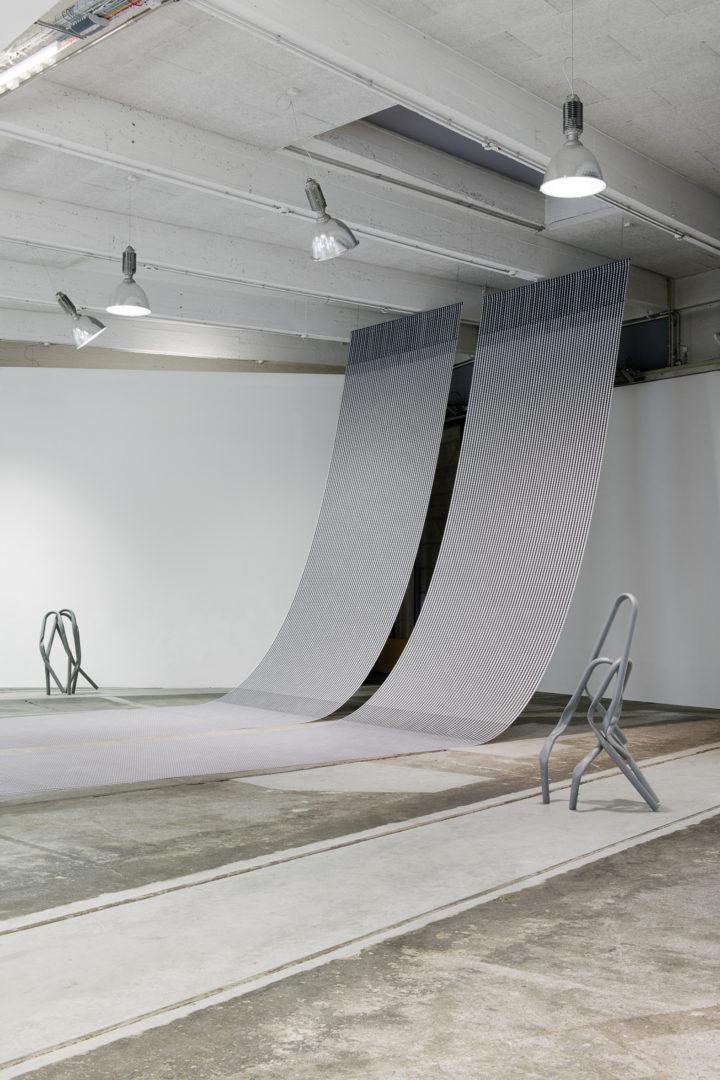 "Exhibition View Bettina Pousttchi ""Protection"" at Lokremise St.Gallen 2018 / Photo: Sebastian Stadler"