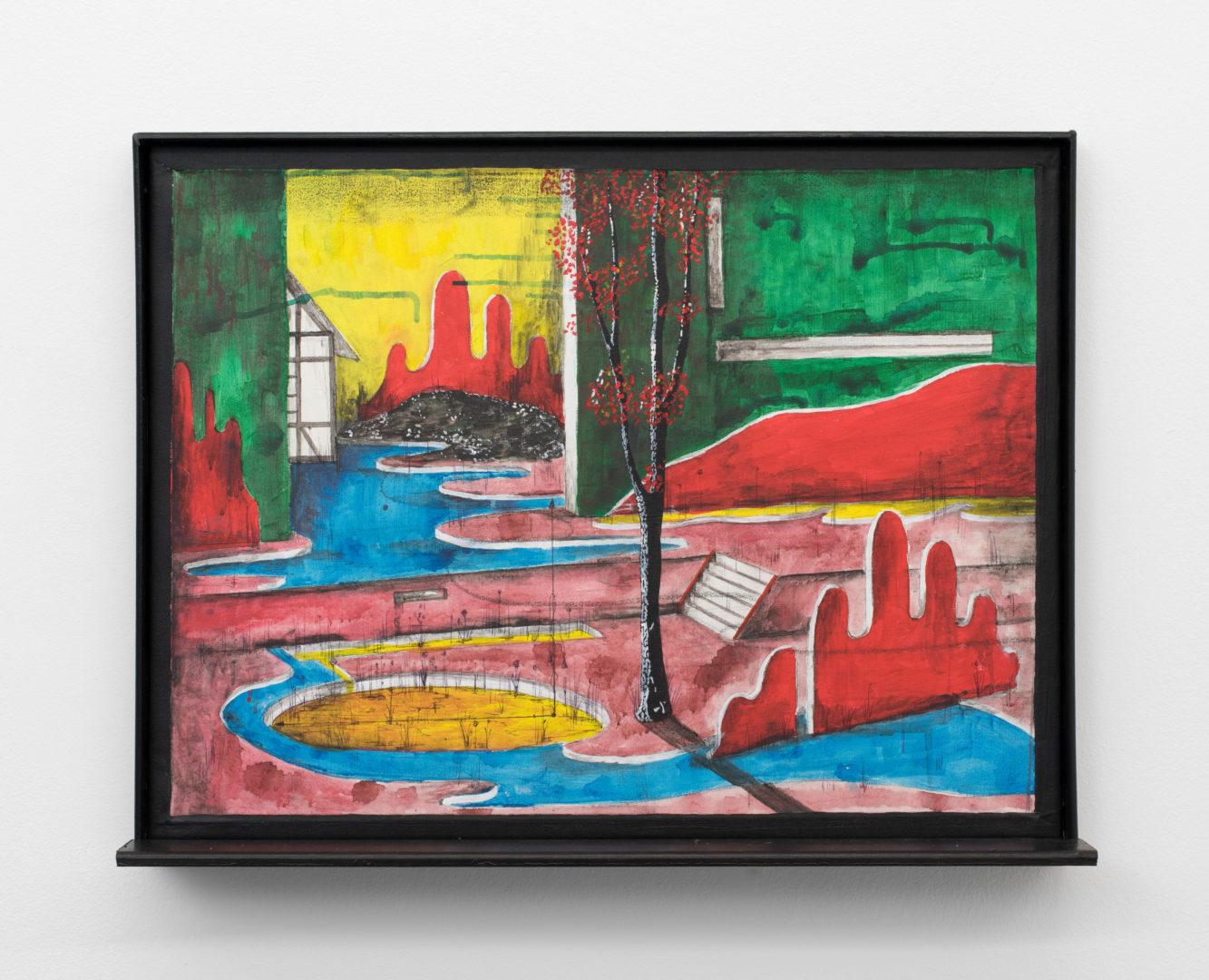 "Exhibition View Veit Laurent Kurz ""Window V (AOA Series), 2018"" at Weiss Falk / Courtesy: Weiss Falk and the artist"