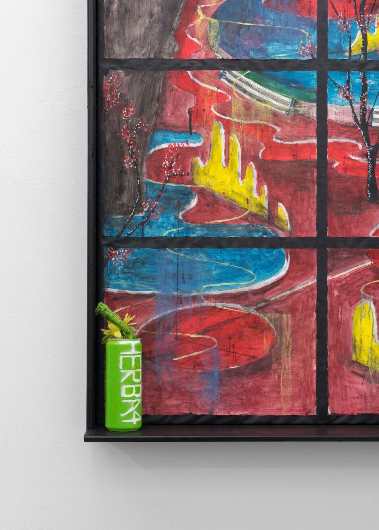 "Exhibition View Veit Laurent Kurz ""Window IV (AOA Series), 2018"" at Weiss Falk / Courtesy: Weiss Falk and the artist"