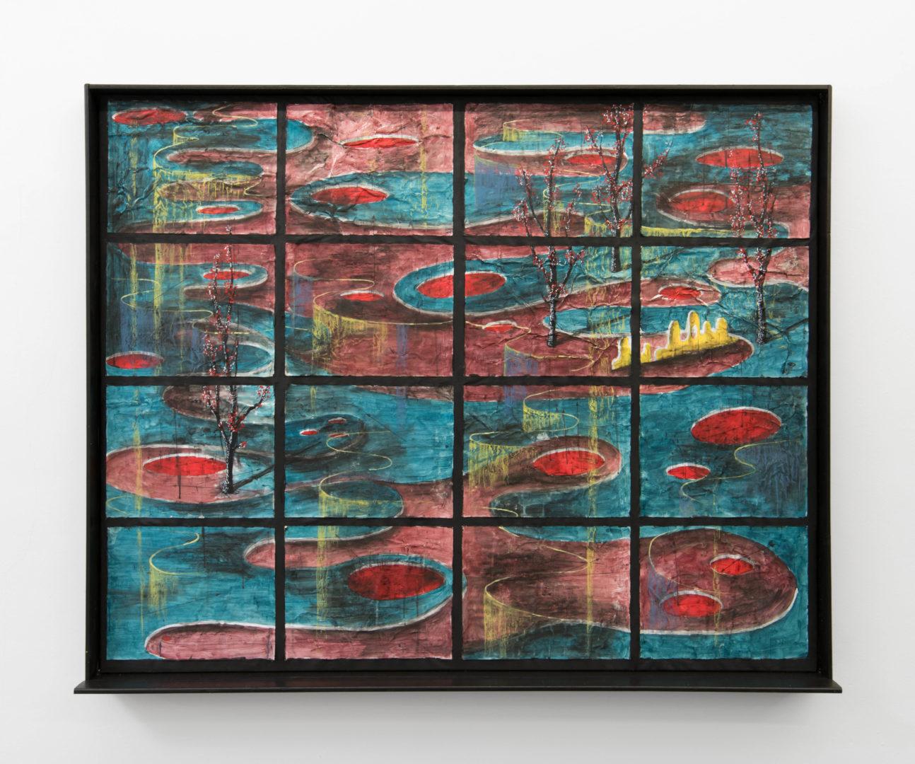 "Exhibition View Veit Laurent Kurz ""Window III (AOA Series), 2018"" at Weiss Falk / Courtesy: Weiss Falk and the artist"