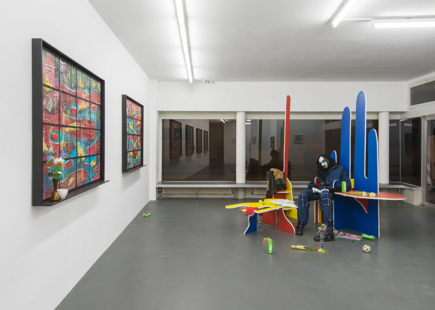 "Exhibition View Veit Laurent Kurz ""Aspects of Arriving"" at Weiss Falk / Courtesy: Weiss Falk and the artist"