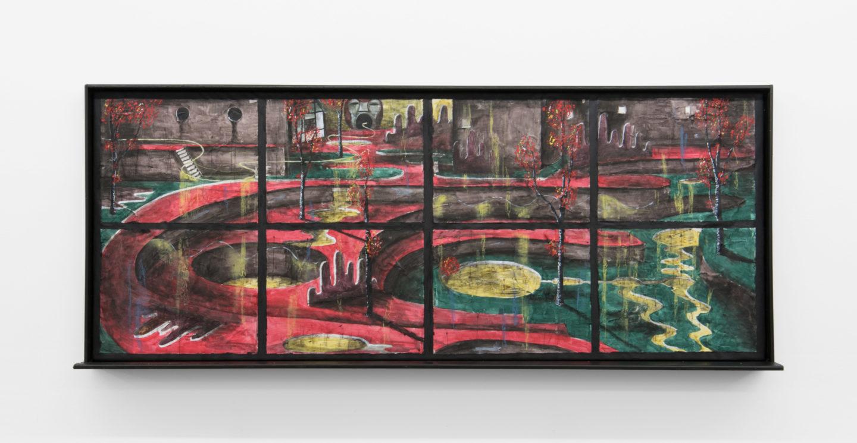 "Exhibition View Veit Laurent Kurz ""Window VII (AOA Series), 2018"" at Weiss Falk / Courtesy: Weiss Falk and the artist"