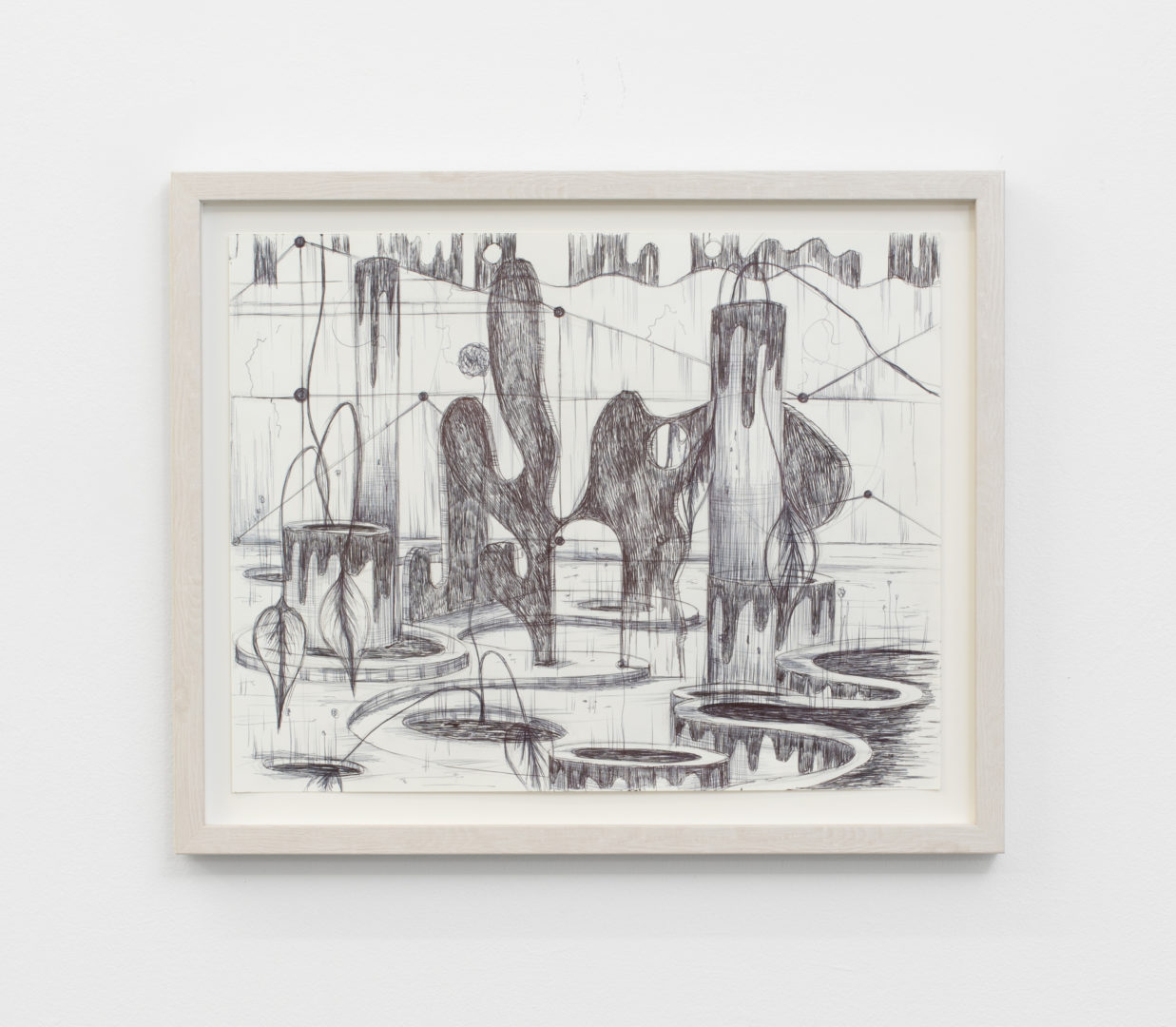"Exhibition View Veit Laurent Kurz ""Drawing V (AOA Series), 2018"" at Weiss Falk / Courtesy: Weiss Falk and the artist"