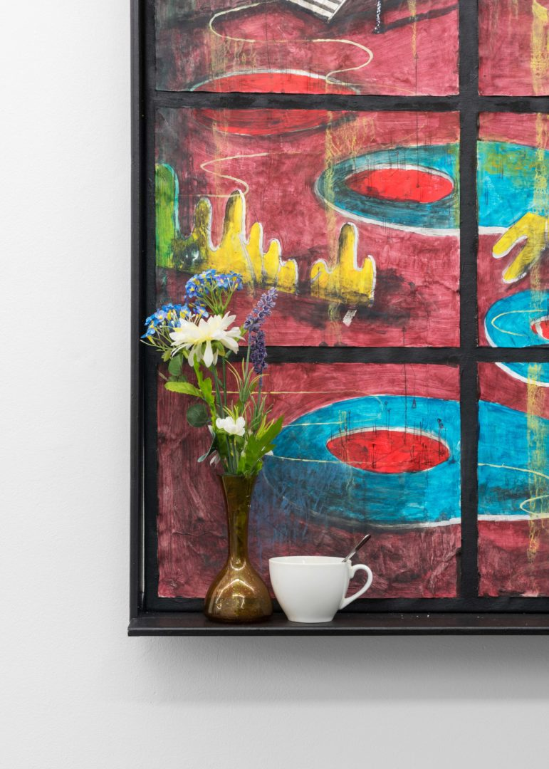 "Exhibition View Veit Laurent Kurz ""Window II (AOA Series), 2018"" at Weiss Falk / Courtesy: Weiss Falk and the artist"