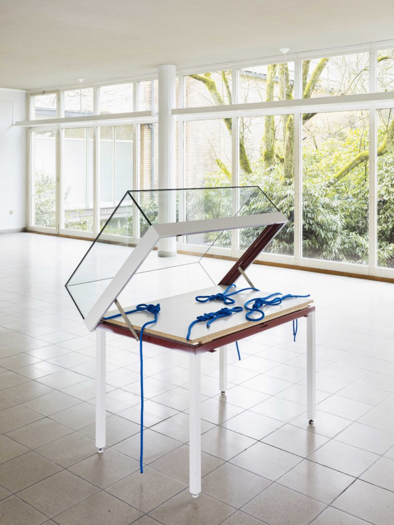 """Exhibition View Marta Riniker-Radich """"It's better to know a knot and not need it, than to need a knot and not know it, 2018"""" at Kunsthaus Glarus / Photo: Gunnar Meier / Courtesy: the artist"""