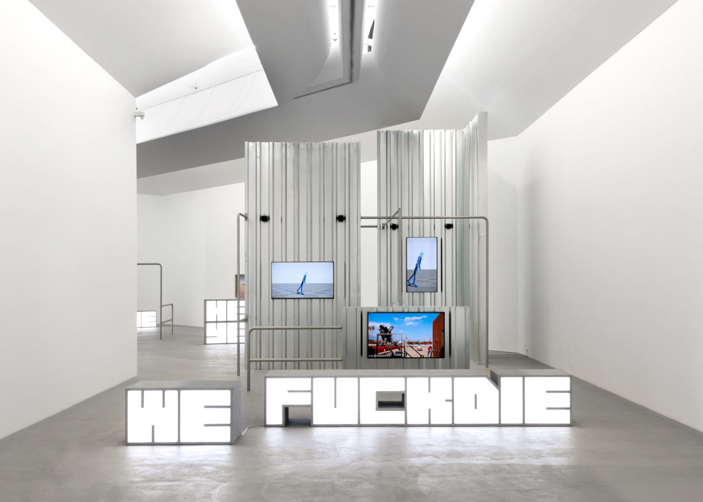 "Exhibition View Hito Steyerl ""Hell Yeah We Fuck Die"" at Kunstmuseum Basel Gegenwart 2018 / Photo: Marc Asekhame / Courtesy: Andrew Kreps Gallery, New York"