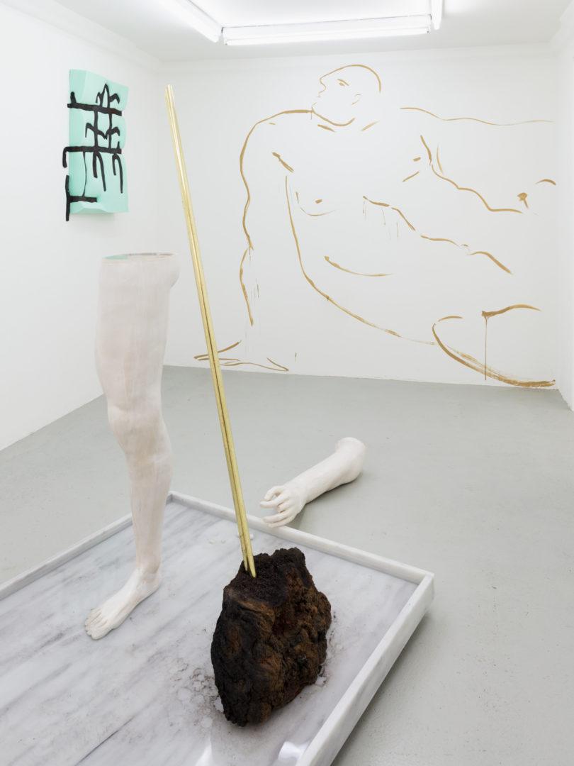 Exhibition View Kasia Fudakowski, Maria Loboda, Zoe Paul at SALTS, Birsfelden / Photo: Gunnar Meier / Courtesy SALTS & the Artists / Samuel Leuenberger & Elise Lammer