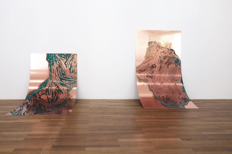 """Exhibition View Una Szeemann """"In, um es herum und unterhalb"""" at Kunsthalle"""