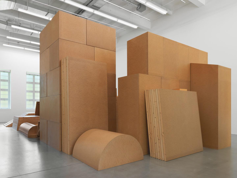 "Exhibition View Imi Knoebel ""Raum 19 III, 1968/2006, Batterie 2005"" at Museum Haus Konstruktiv, 2018 / © 2018, ProLitteris, Zurich; IMI KNOEBEL / Photo: Stefan Altenburger"