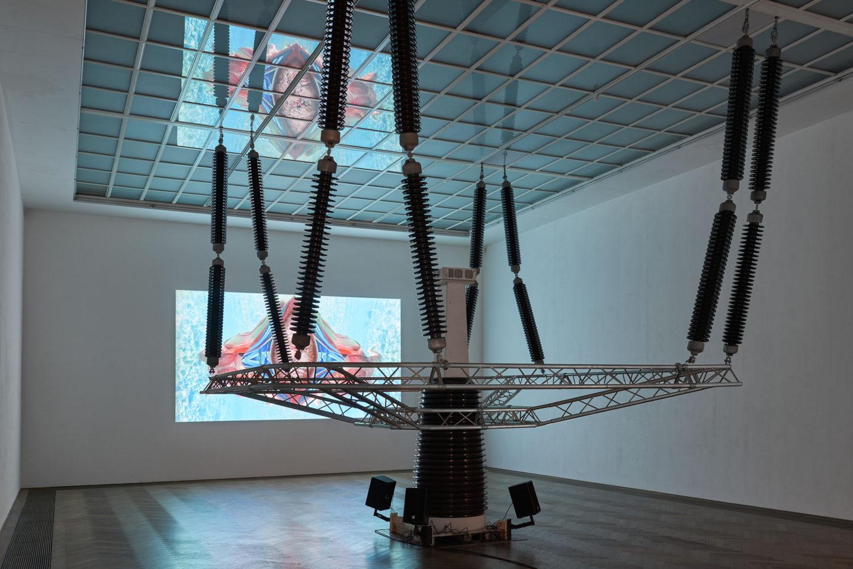 "Installation View Raphaela Vogel ""Ultranackt – view on Isolator, 2018"" at Kunsthalle Basel, 2018 / Photo: Philipp Hänger / Courtesy: the artist and BQ, Berlin"