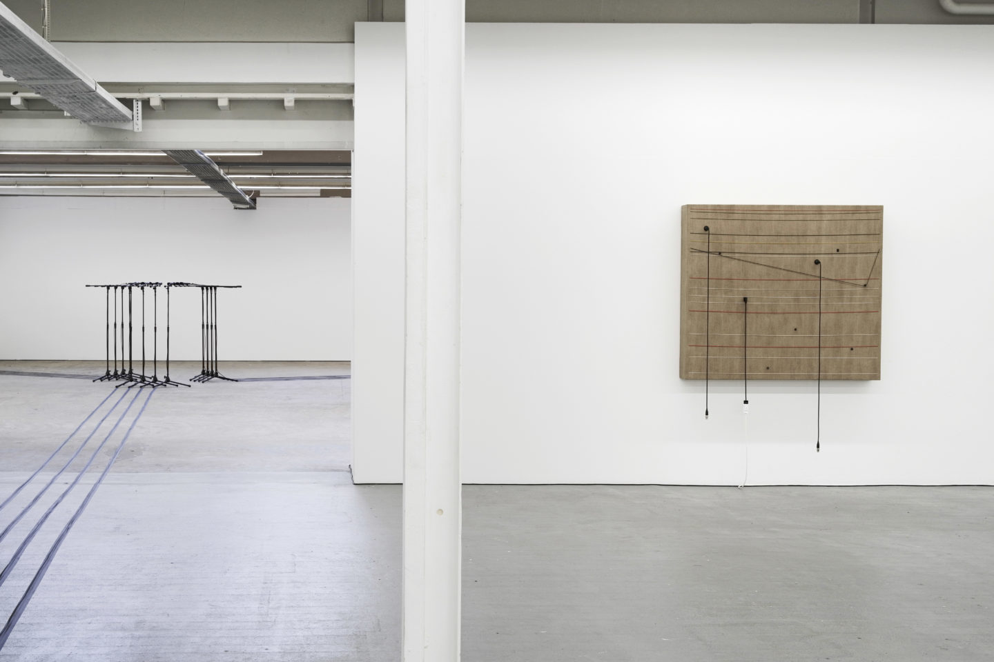 Exhibition View Naama Tsabar «Transitions #4 – view on Barricade #2 / Transition, 2016» at Kunsthaus Baselland 2018, / Photo: Serge Hasenböhler