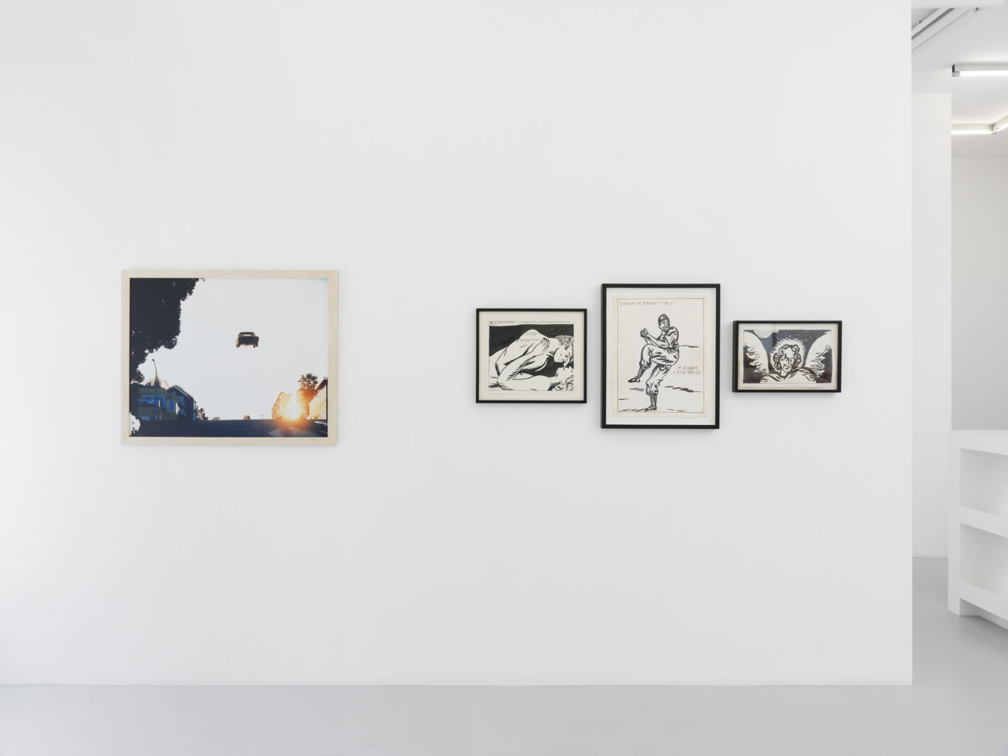 Exhibition View Matthew Porter and Raymond Pettibon «Look West, Young Man!» at Galerie Xippas, Geneva / Photo: Annik Wetter / Courtesy: Galerie Xippas
