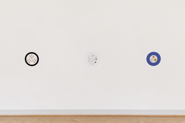 Installation View Nina Canell featuring Robin Watkins «Reflexologies / View on: Mid-Sentence, 2018 Edition 7/10 (+ IV A.P.)» at Kunstmuseum St. Gallen, 2018 / Courtesy: the artist / Photo: Sebastian Stadler