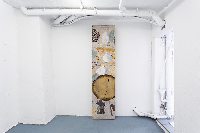 Installation View Groupshow «Double Take / view on Katja Schenker, Wie tief ist die Zeit?, 2017» at Last Tango Zurich, 2018 / Photography: Kilian Bannwart / Courtesy: the artists and Last Tango