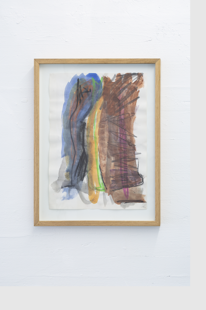 Installation View Groupshow «Double Take / view on Per Kirkeby, Untitled, 1986» at Last Tango Zurich, 2018 / Photography: Kilian Bannwart / Courtesy: the artists and Last Tango