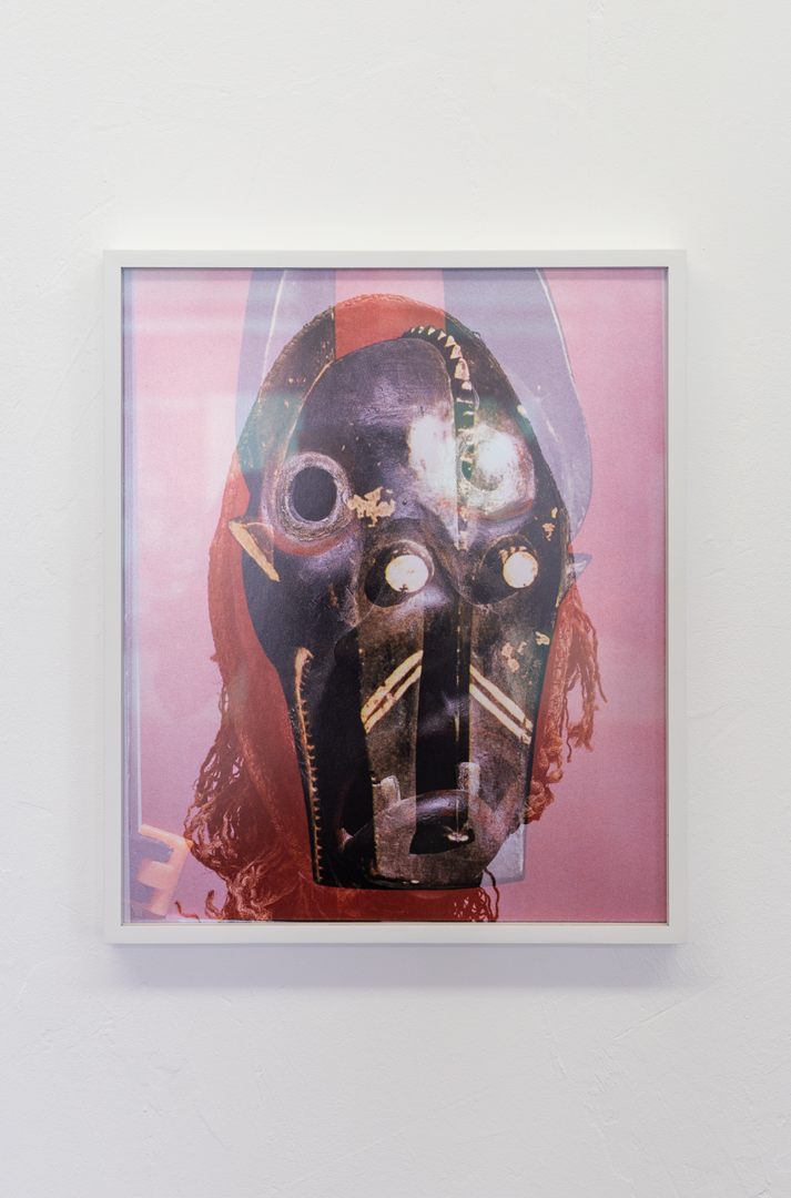 Installation View Groupshow «Double Take / view on Michael Etzensperger, Mask (no. 26), 2016» at Last Tango Zurich, 2018 / Photography: Kilian Bannwart / Courtesy: the artists and Last Tango