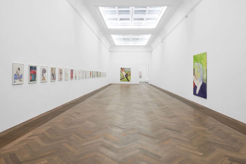 Installation View Sanya Kantarovsky «Disease of the Eyes» at Kunsthalle Basel, 2018 / Photo: Philipp Hänger / Courtesy of the artist; Luhring Augustine, New York; Stuart Shave/Modern Art, London; and Tanya Leighton Gallery, Berlin