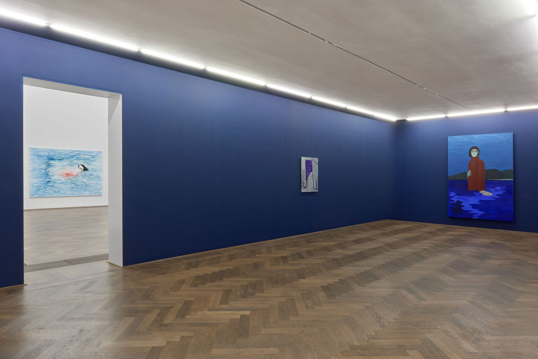 Installation View Sanya Kantarovsky «Disease of the Eyes» at Kunsthalle Basel, 2018. Photo: Philipp Hänger / Courtesy of the artist; Luhring Augustine, New York; Stuart Shave/Modern Art, London; and Tanya Leighton Gallery, Berlin