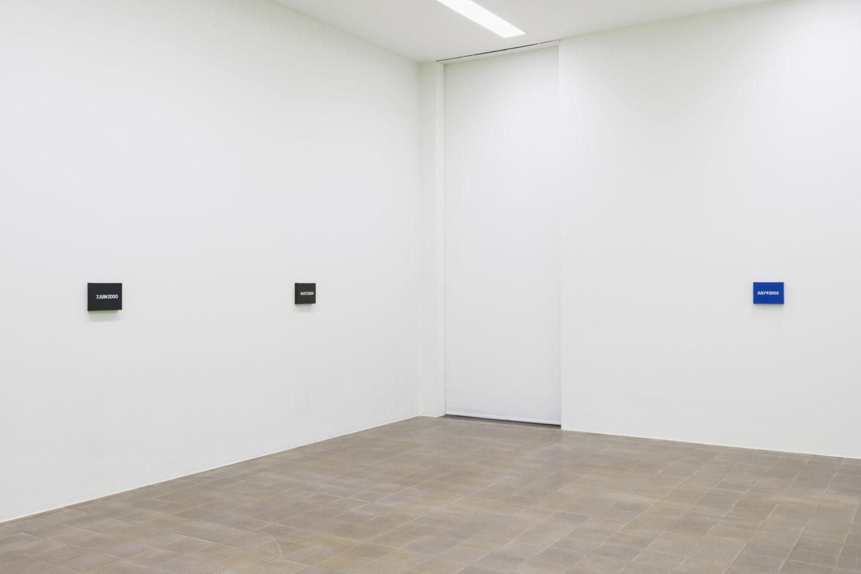 Exhibition View Groupshow «Zeitspuren – The Power of Now with On Kawara» at PASQUART, Biel/Bienne, 2018 / Photo: Gunnar Meier / Courtesy: Kunstmuseum St.Gallen, Marie Müller-Guarnieri-Stiftung