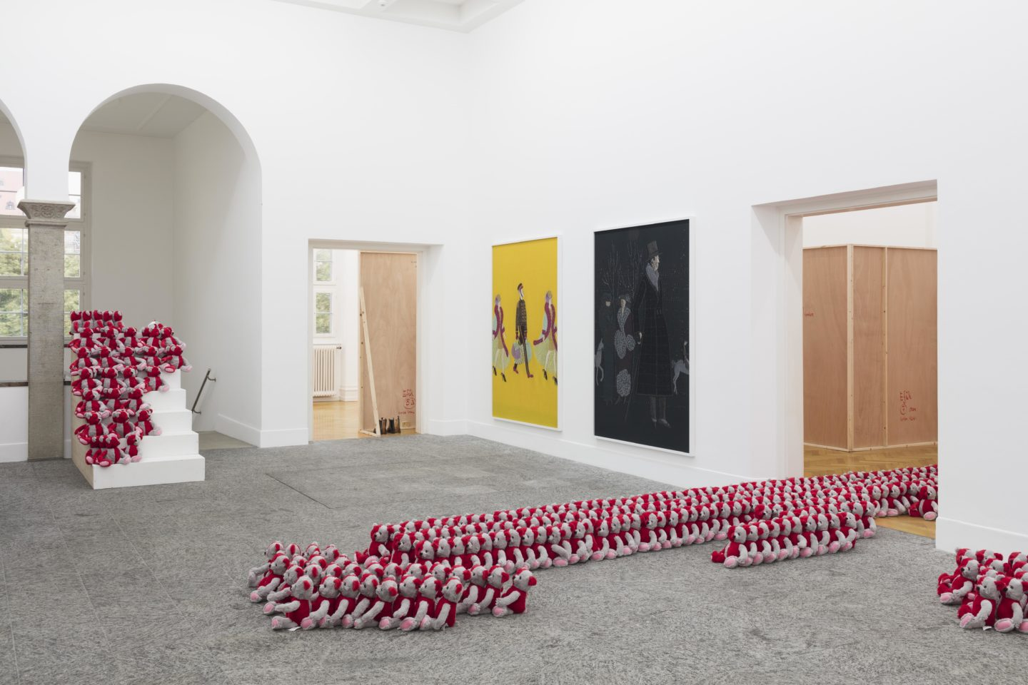 Exhibition View Tobias Kaspar «Independence» at Kunsthalle Bern, 2018 / Photo: Gunnar Meier / Courtesy: the artist and Kunsthalle Bern