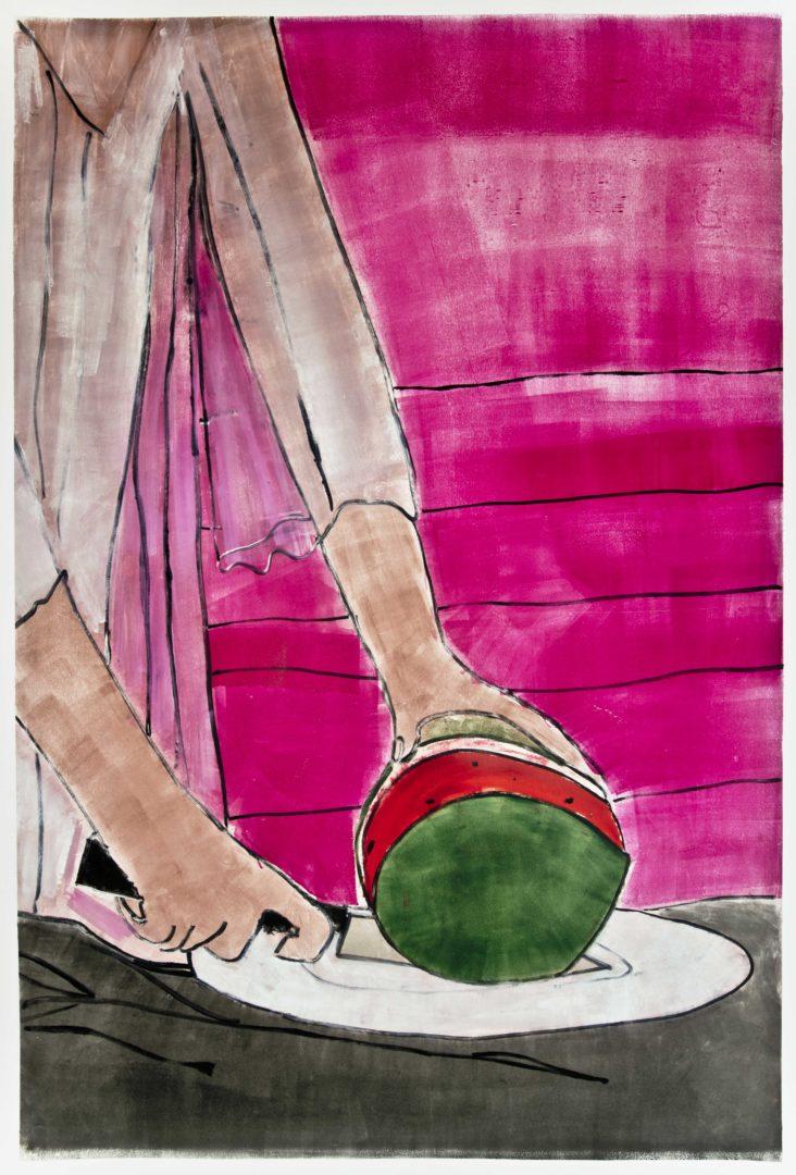 Exhibition View Zilla Leutenegger «Casa Blanca / view on David Lynch, 2018» at Galerie Peter Kilchmann, Zurich / Courtesy: the artist and Galerie Peter Kilchmann
