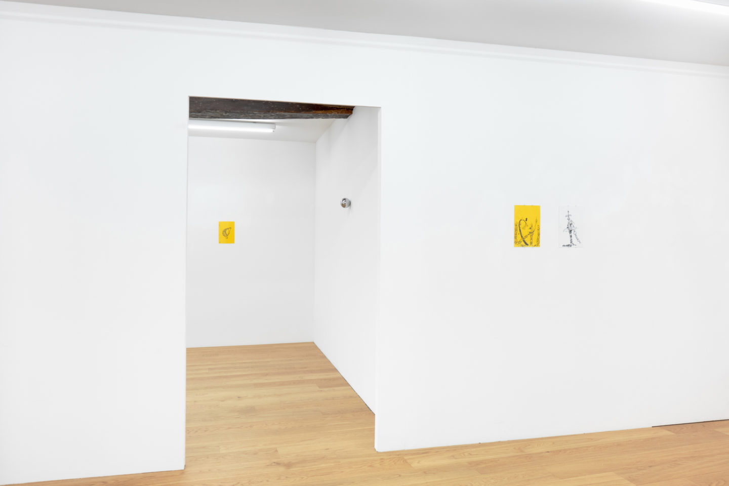 Exhibition View Groupshow «Silver Lake» with Paul Czerlitzki, Anna Fehr, Elin Gonzalez at Kirchgasse, Steckborn, 2018 / Courtesy: the artist and Kirchgasse