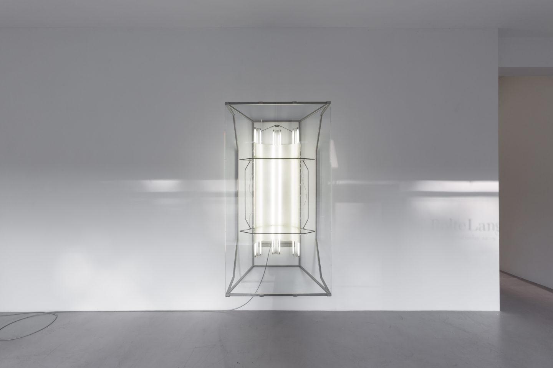 Exhibition View Partrick Hari Soloshow «diese ecke wurde als verloren aufgegeben / view on Mask (hommage to Andrea Fraser), 2018» at Bolte Lang, Zurich / Courtesy: the artist and Bolte Lang, Zurich