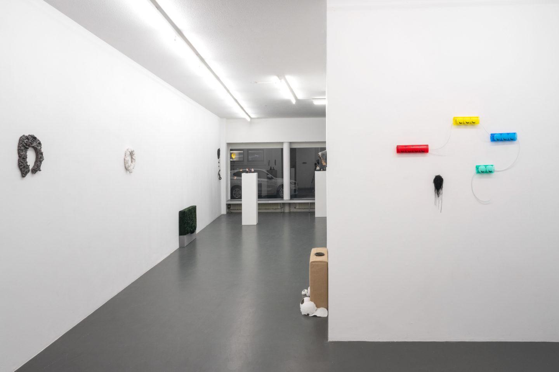 Exhibition View Sveta Mordovskaya Soloshow «Suckly Eye» at Weiss Falk, Basel, 2018 / Photo: Flavio Karrer / Courtesy: the artist and Weiss Falk