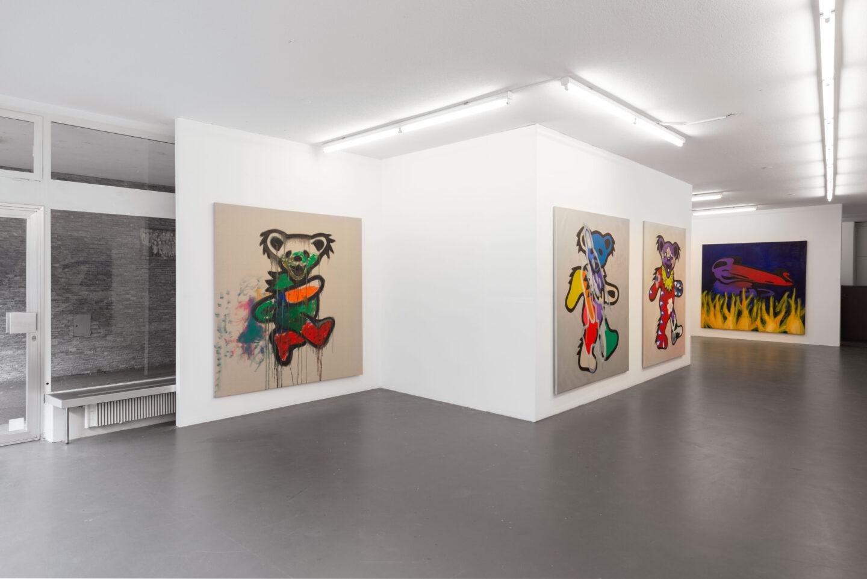 Exhibition View Tina Braegger Soloshow «Zu Besuch bei den Träuschlingsverwandten» at Weiss Falk, Basel, 2019 / Photo: Flavio Karrer / Courtesy: the artist and Weiss Falk