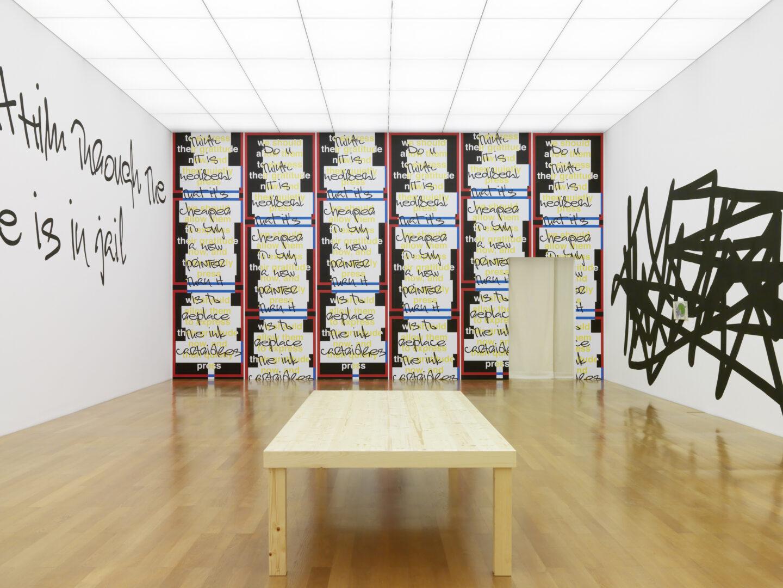 Exhibition View Nora Turato Soloshow «explained away» at Kunstmuseum Liechtenstein / Photo: Stefan Altenburger / Courtesy: the artist and Kunstmuseum Liechtenstein