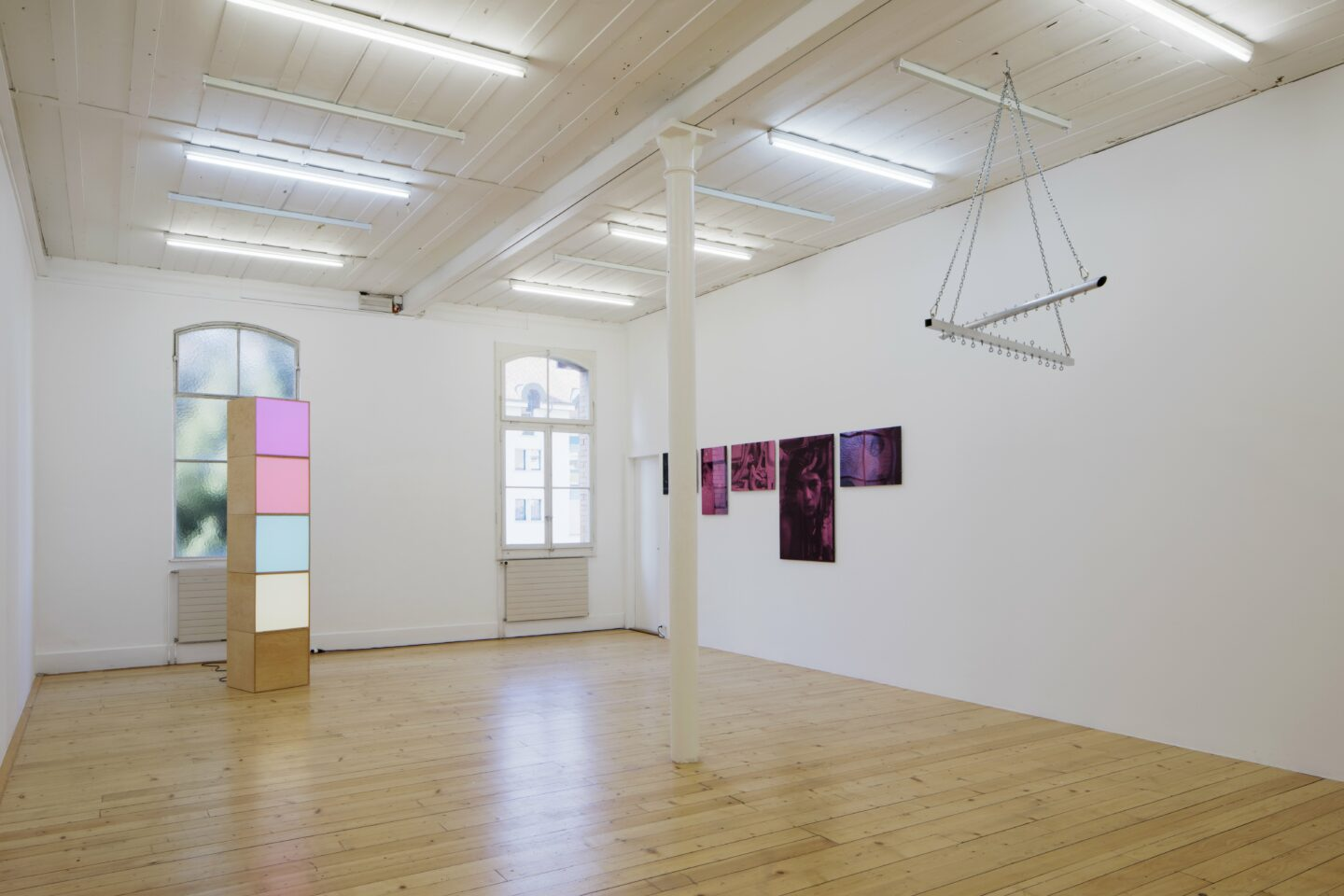 Exhibition View «Discoteca Analitica» at Fri Art Kunsthalle, Fribourg / Photo: Thomas Julier / © Fri Art Kunsthalle