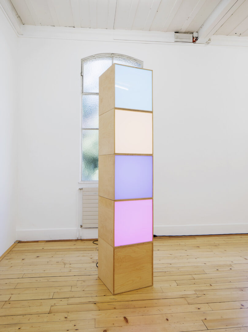 Exhibition View «Discoteca Analitica ; view on Angela Bulloch, Echolocator, 2000» at Fri Art Kunsthalle, Fribourg / Photo: Thomas Julier / © Fri Art Kunsthalle / Courtesy: Ringier Collection