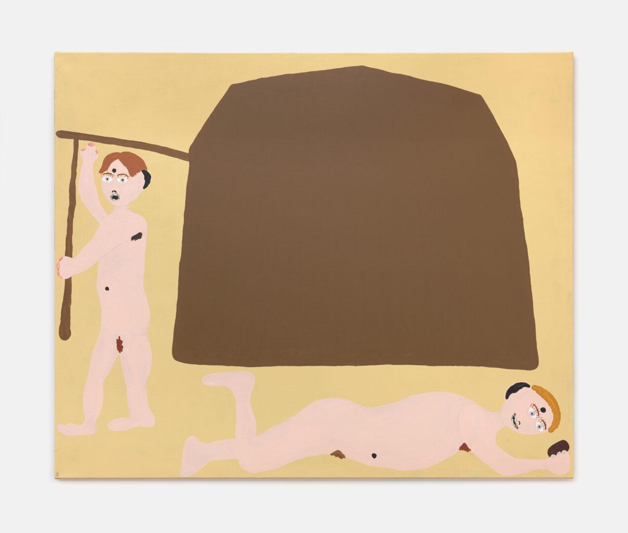 Exhibition View Philipp Schwalb Soloshow «O  Ich T ; view on Das Chaletzelt der verschiedenen Leben oder Wie die drei Philosophen Ihren Sinn in der Wüste suchen, 2019» at Kirchgasse, Steckborn / Courtesy: the artist and Kirchgasse