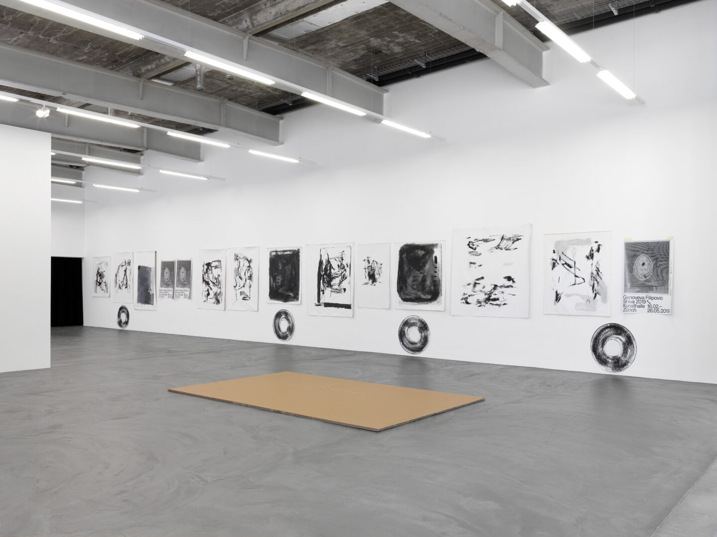 Exhibition View Genoveva Filipovic Soloshow «Shiva 2019 ✆» at Kunsthalle Zürich, Zurich / Photo: Annik Wetter / Courtesy: the artist and Kunsthalle Zürich