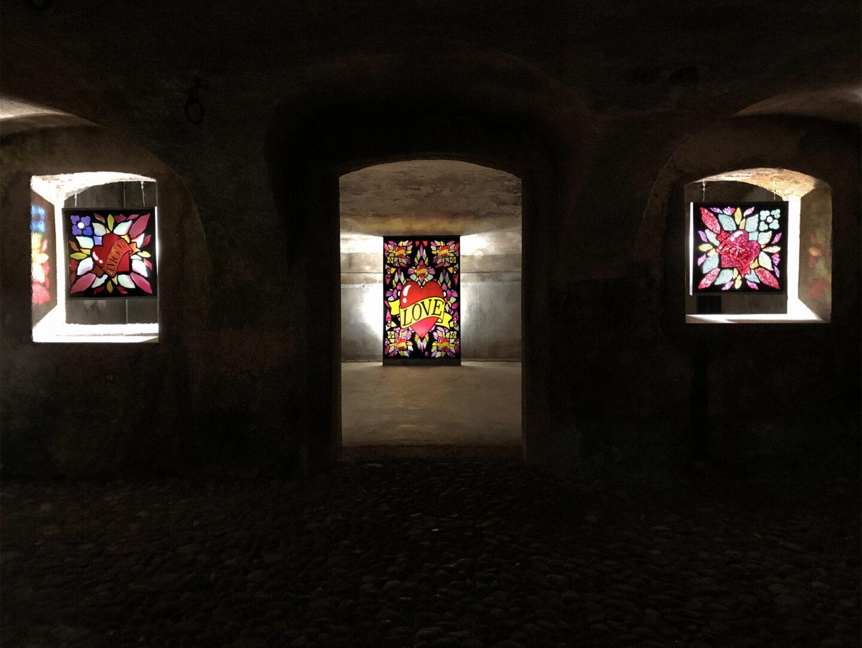Exhibition View Jani Leinonen Soloshow «CHAPEL OF REMORSE» at Stalla Madulain / Courtesy: the artist and Stalla Madulain
