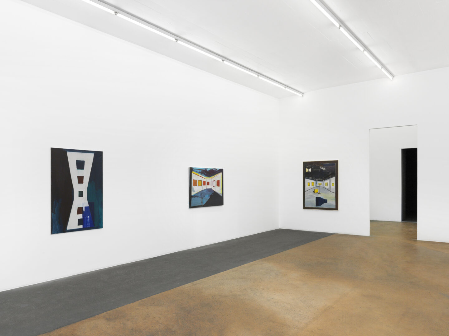Exhibition View René Daniëls Soloshow «Fragments from an Unfinished Novel» at MAMCO, Geneva, 2019 / Photo: Annik Wetter / Courtesy: the artist and MAMCO, Geneva