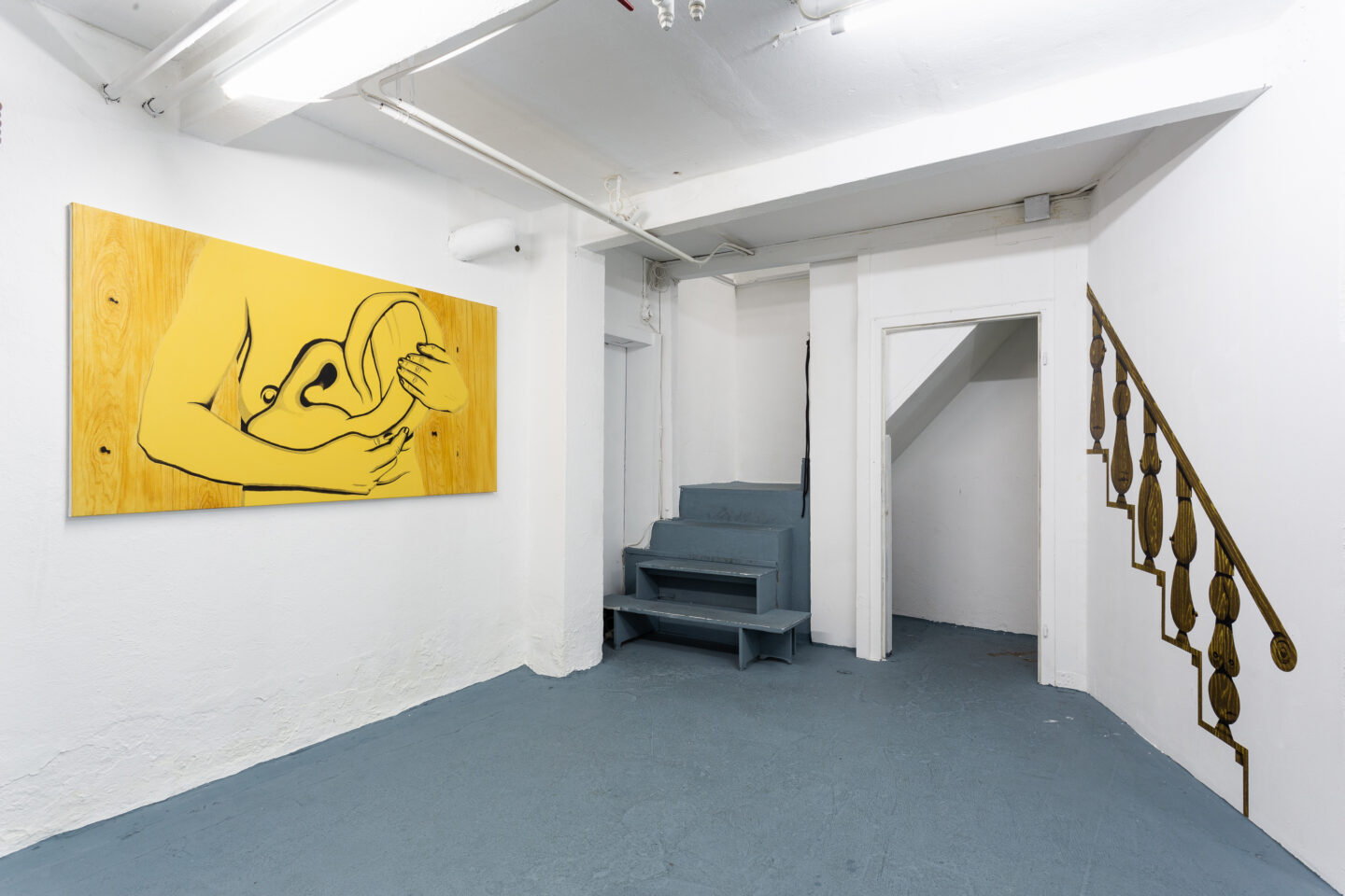 Exhibition View Groupshow «Sarah Margnetti & Megan Rooney» at Last Tango, Zurich / Photo: Kilian Bannwart / Courtesy: the artist and Last Tango