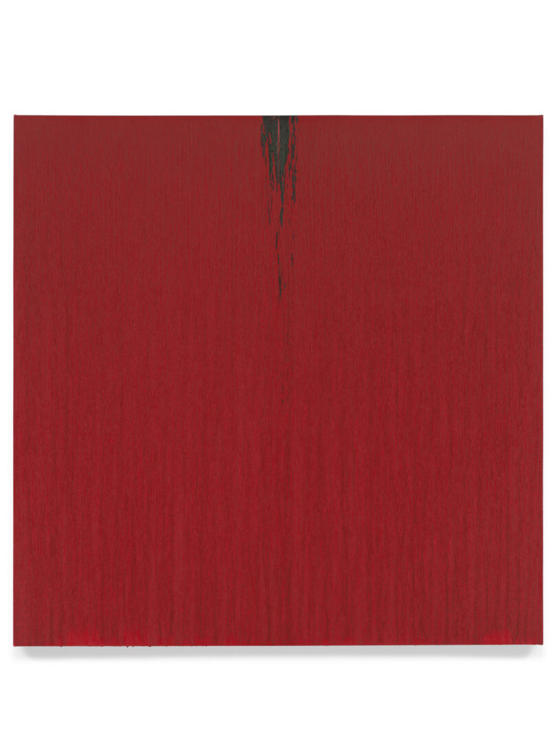 Pat Steir Soloshow «Paintings ; Red, 2018» at Vito Schnabel Gallery, St. Moritz, 2019 / © Pat Steir / Photo: Tom Powel Imaging / Courtesy: the artist, Lévy Gorvy Gallery, and Vito Schnabel Gallery