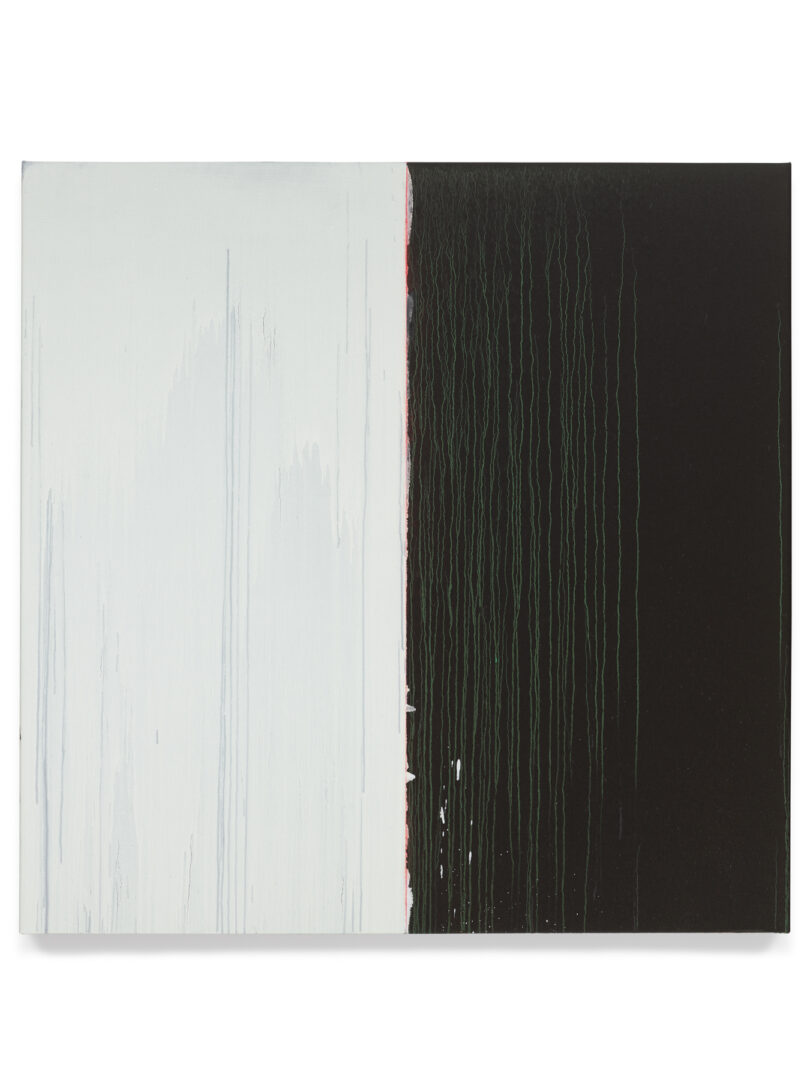 Pat Steir Soloshow «Paintings ; Black and White, 2018» at Vito Schnabel Gallery, St. Moritz, 2019 / © Pat Steir / Photo: Tom Powel Imaging / Courtesy: the artist, Lévy Gorvy Gallery, and Vito Schnabel Gallery