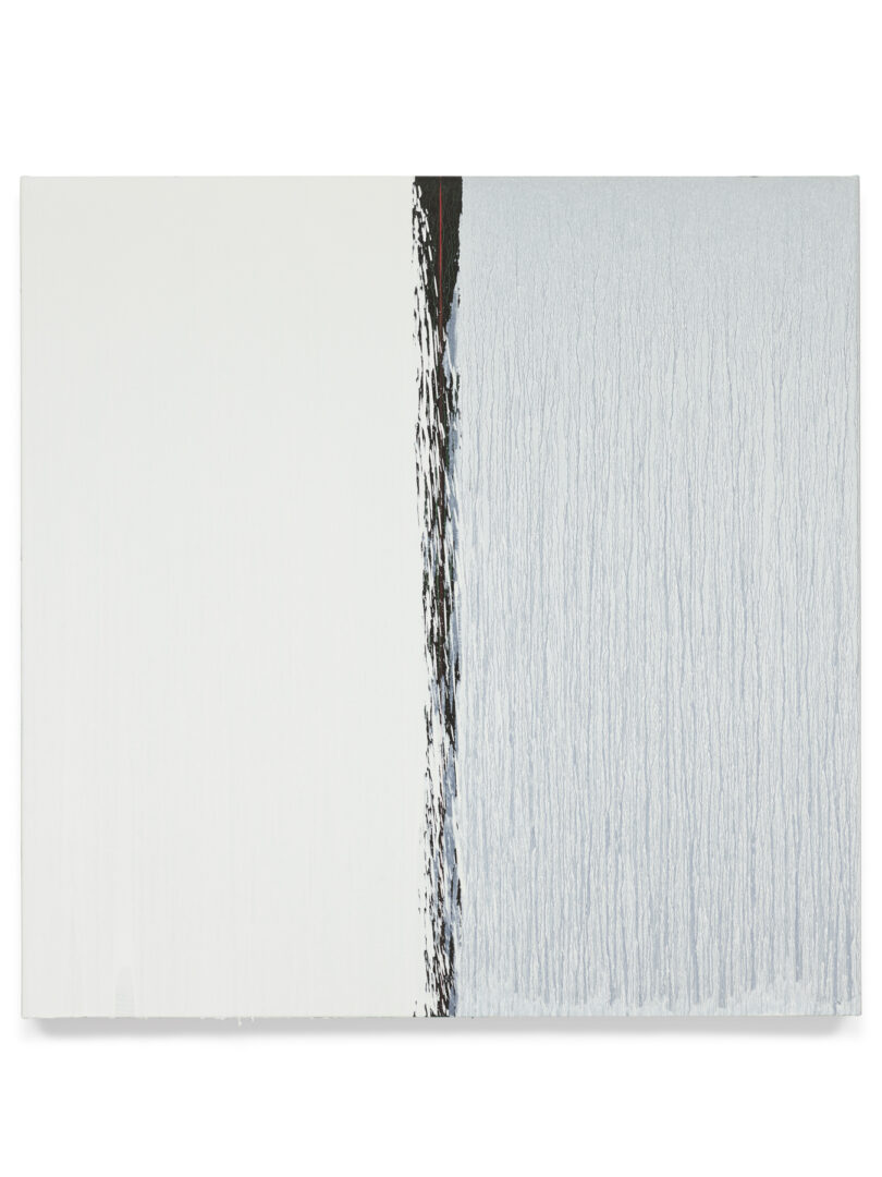Pat Steir Soloshow «Paintings ; White and White, 2018» at Vito Schnabel Gallery, St. Moritz, 2019 / © Pat Steir / Photo: Tom Powel Imaging / Courtesy: the artist, Lévy Gorvy Gallery, and Vito Schnabel Gallery