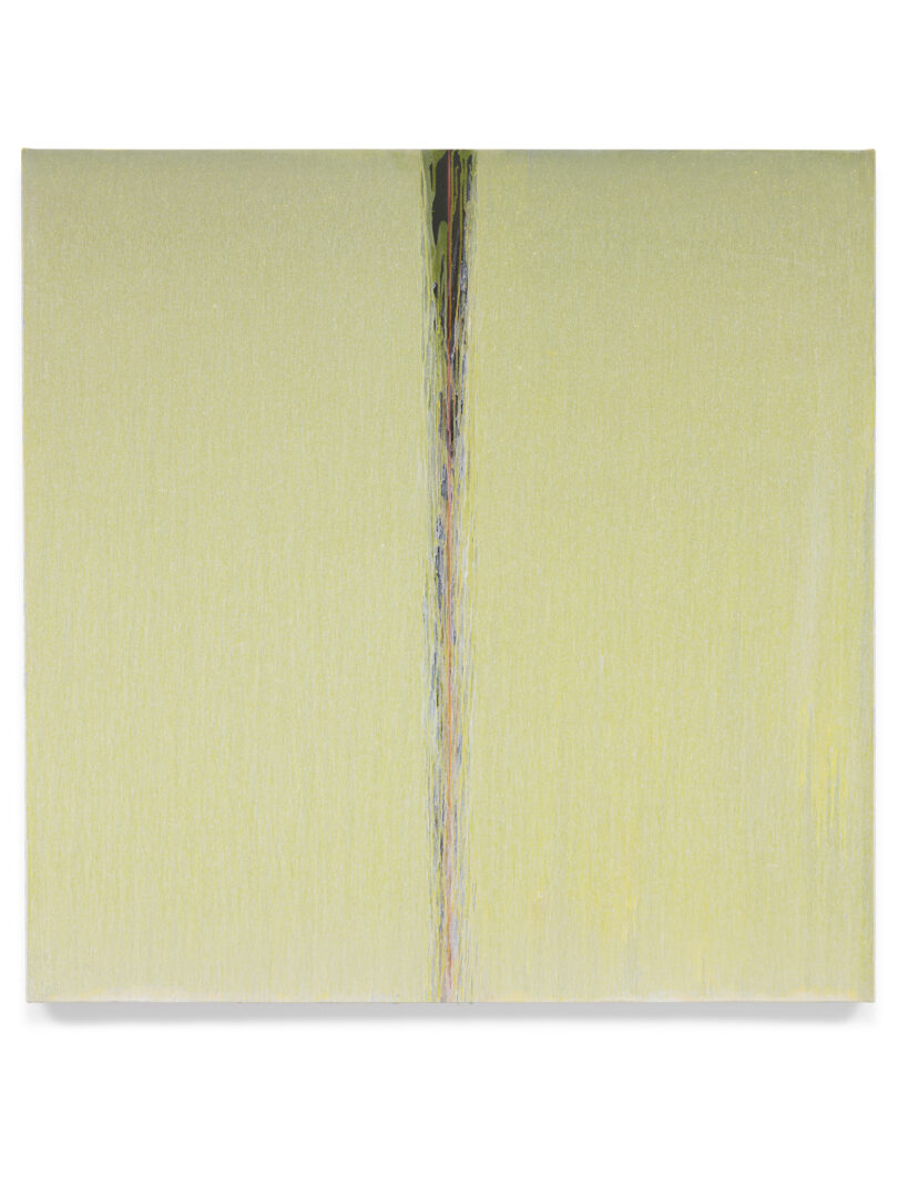 Pat Steir Soloshow «Paintings ; Yellow, 2018» at Vito Schnabel Gallery, St. Moritz, 2019 / © Pat Steir / Photo: Tom Powel Imaging / Courtesy: the artist, Lévy Gorvy Gallery, and Vito Schnabel Gallery