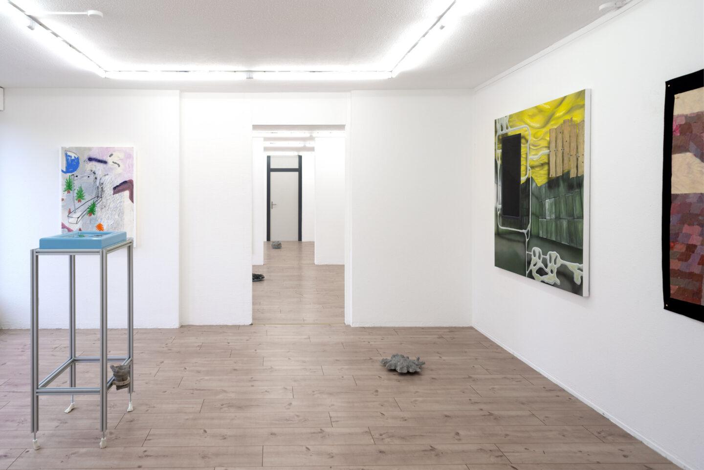 Exhibition View Ruven Stettler and Kevin Aeschbacher Groupshow «Module für Ordnung» at HAMLET, Oerlikon, Zurich, 2019 / Photo: Flavio Karrer / Courtesy: the artist and HAMLET