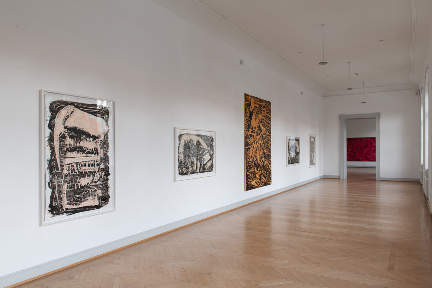 Installation View Judy Millar Soloshow «The Future and the Past Perfect» at Kunstmuseum St. Gallen, 2019 / Photo: Sebastian Stalder
