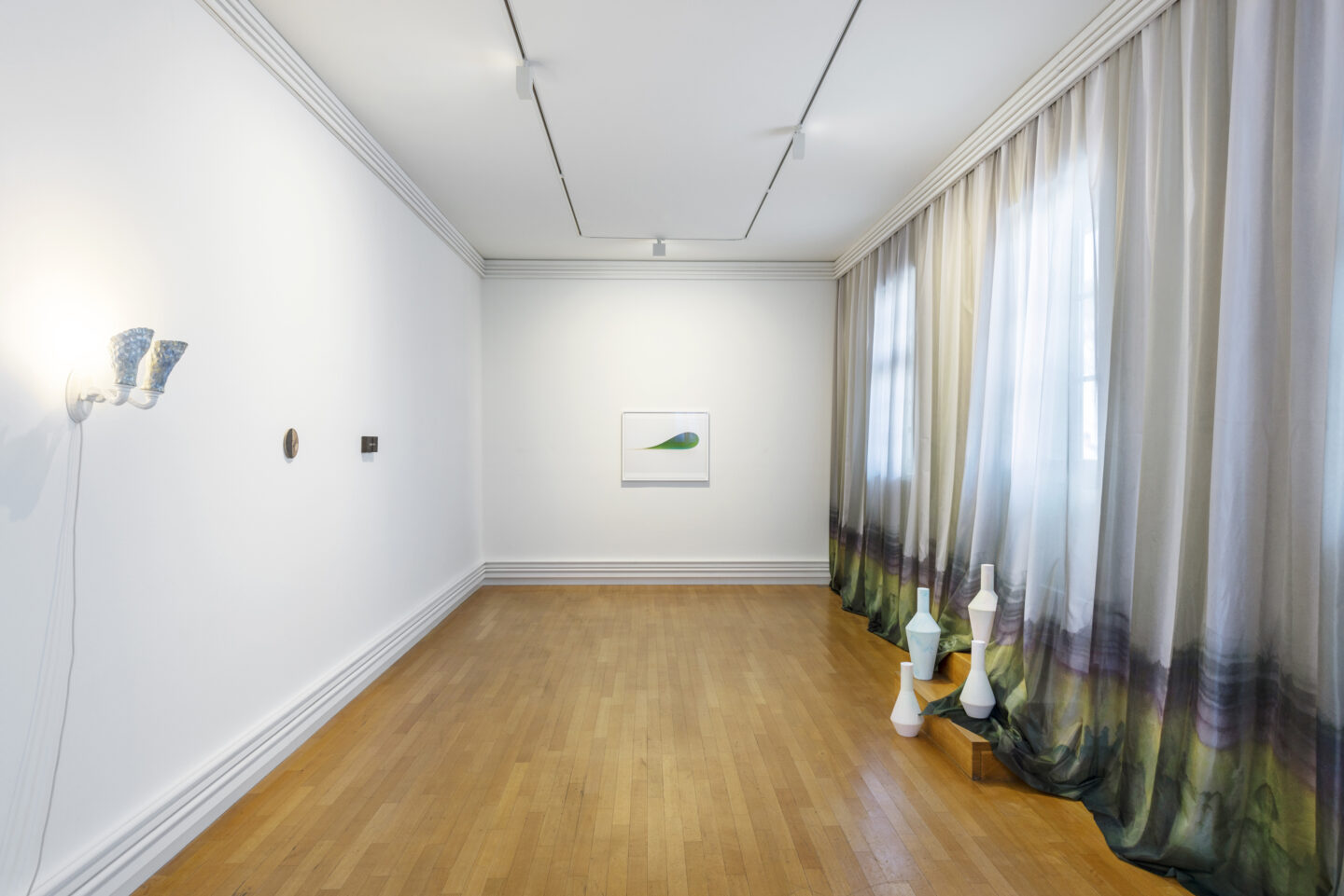 Installation View Clare Kenny «If I was a Rich Girl ; with a work by Wolfgang Tillmanns» at Kunstraum Riehen, Basel / Photo: Nici Jost / Courtesy: the artist