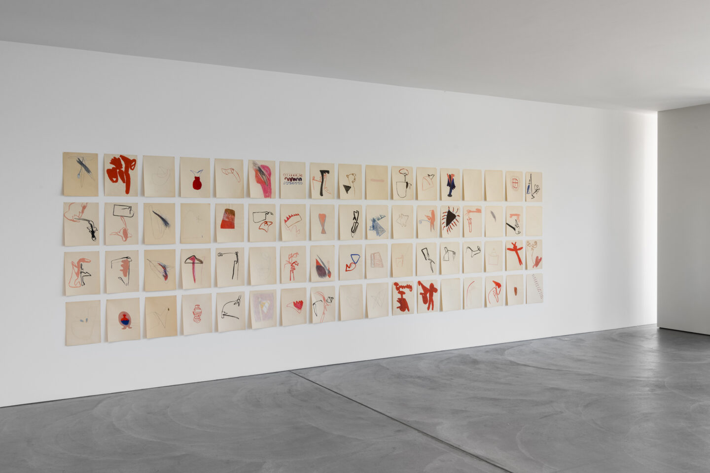 Exhibitioin View Marianne Eigenheer Soloshow at von Bartha, Basel, 2019 / Photo: Ben Köchlin / Courtesy: Marianne Eigenheer Estate and von Bartha