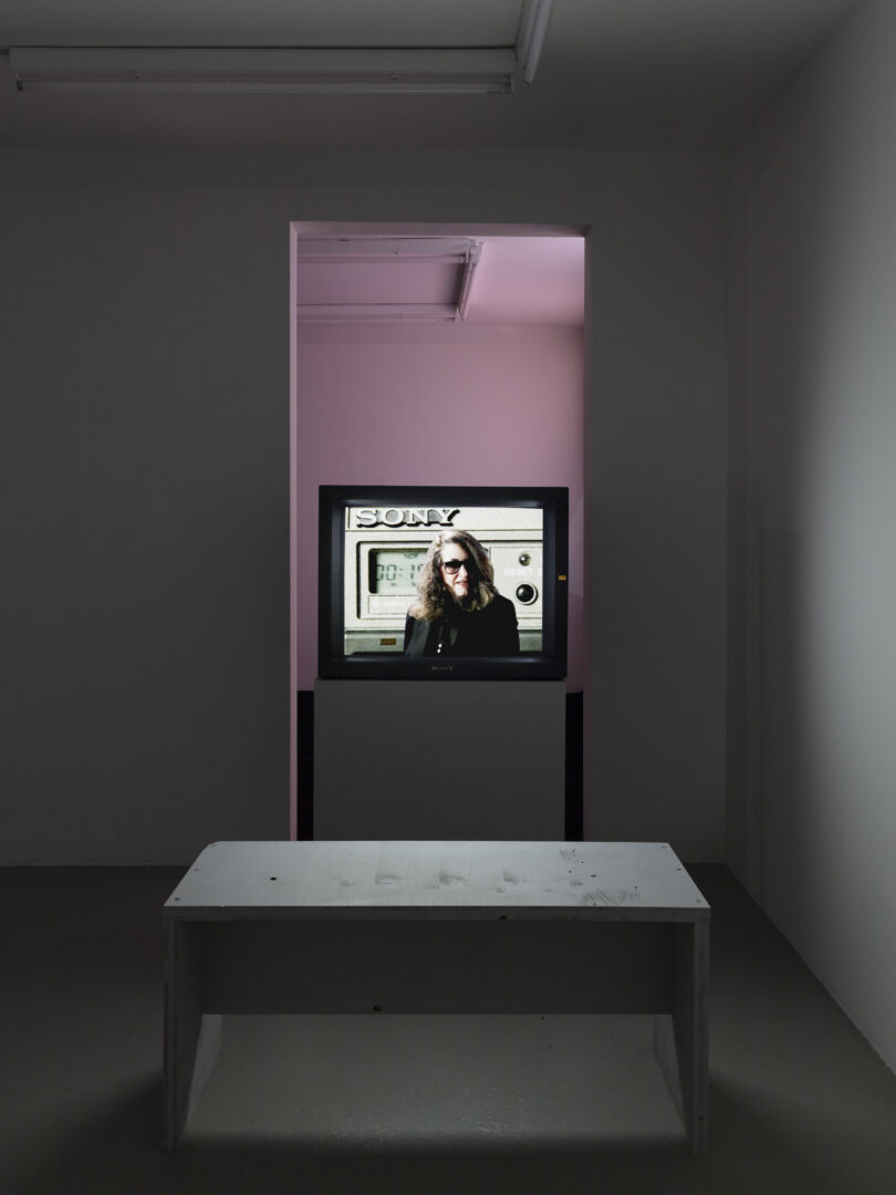 Exhibition View Groupshow «On Fire – Vulnerable Footage ; view on Lynn Hershman Leeson, First Person Singular, the Electronic Diaries of Lynn Hershman (1984-1996)» at SALTS, Birsefelden, Basel, 2019 / Photo: Gunnar Meier / Courtesy: the artist, Waldburger Wouters, Brussels and Basel, Basler Dokumentartage and SALTS